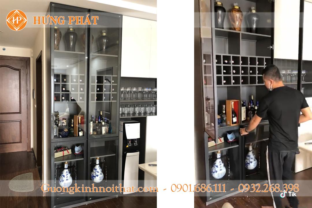Cánh kính tủ rượu Hưng Phát